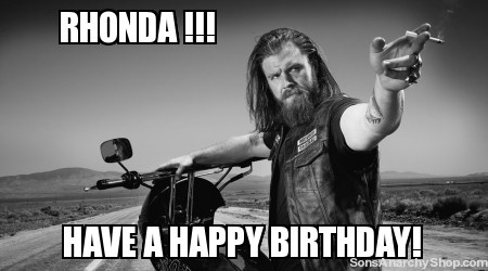 happy birthday rhonda