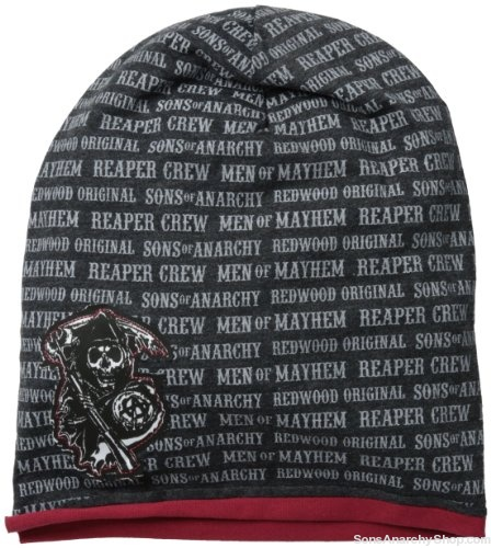 sons of anarchy men s jersey slouchy beanie sons of. Black Bedroom Furniture Sets. Home Design Ideas