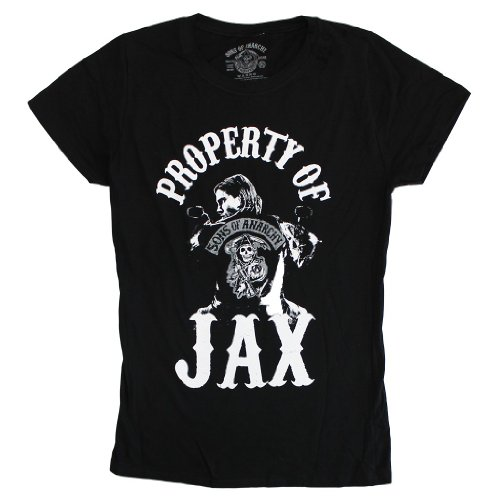 sons of anarchy property of jax t shirt medium sons of. Black Bedroom Furniture Sets. Home Design Ideas