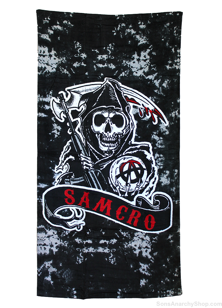 sons of anarchy samcro beach towel sons of anarchy shop. Black Bedroom Furniture Sets. Home Design Ideas