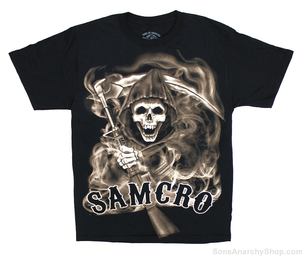sons of anarchy samcro smoked t shirt sons of anarchy shop. Black Bedroom Furniture Sets. Home Design Ideas