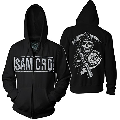 sons of anarchy samcro boxed hoodie sons of anarchy shop. Black Bedroom Furniture Sets. Home Design Ideas